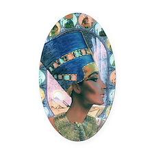 7-Nefertiti Oval Car Magnet
