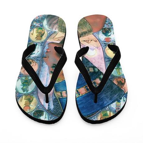 7-Nefertiti Flip Flops