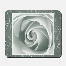 Pewter+Grey_lace_Rose_PILLOW Mousepad