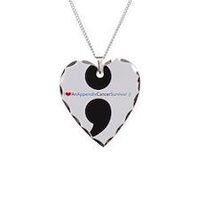 IAppendixCancerSurvivortshirt Necklace Heart Charm