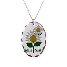 middlesisterflowers Necklace Oval Charm