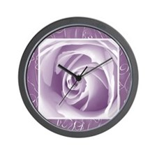 Purple_lace_Rose_PILLOW Wall Clock