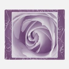 Purple_lace_Rose_PILLOW Throw Blanket