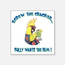 "POLLY SHIRT Square Sticker 3"" x 3"""