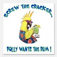 "POLLY SHIRT Square Car Magnet 3"" x 3"""