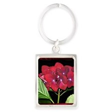 RedHydrangea_Pleats_PILLOW Portrait Keychain