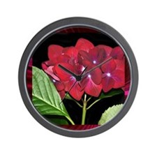 RedHydrangea_Pleats_PILLOW Wall Clock
