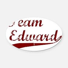 Team Edward bloodred transback Oval Car Magnet