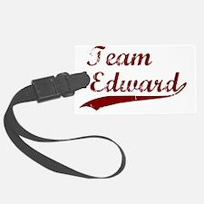 Team Edward bloodred transback Luggage Tag