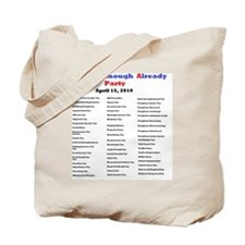 2-list of taxes Tote Bag