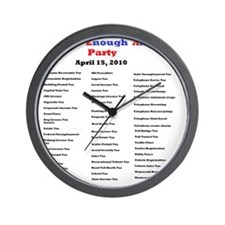 2-list of taxes Wall Clock