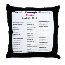 2-list of taxes Throw Pillow