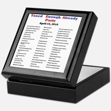 2-list of taxes Keepsake Box