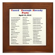 2-list of taxes Framed Tile