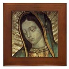 Our Lady of Guadalupe - Pillow Framed Tile