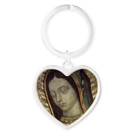 Our Lady of Guadalupe - Pillow Heart Keychain