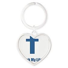 Facebook Took My Life Heart Keychain