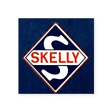 "Skelly.gif Square Sticker 3"" x 3"""