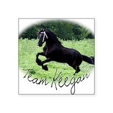 """Team Keegan Square Sticker 3"""" x 3"""""""