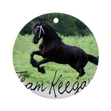 Team Keegan Round Ornament