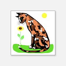 """tortielrgwht Square Sticker 3"""" x 3"""""""