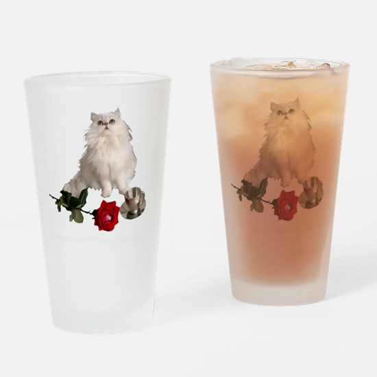 whitepersianrosewlrg Drinking Glass
