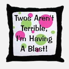 circles_twosarentterrible_girl Throw Pillow
