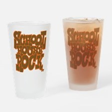 2-schoolhouserock_brown_dark_REVERS Drinking Glass