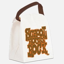 2-schoolhouserock_brown_dark_REVE Canvas Lunch Bag