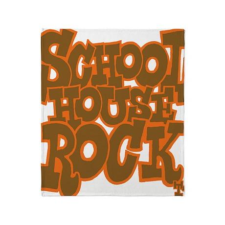 2-schoolhouserock_brown_dark_REVERSE Throw Blanket