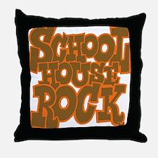 2-schoolhouserock_brown_dark_REVERSE Throw Pillow
