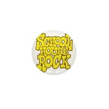 2-schoolhouserock_yellow_REVERSE Mini Button