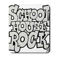 3-schoolhouserock_gray Mousepad