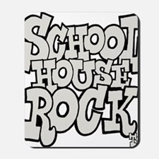 3-schoolhouserock_gray Mousepad