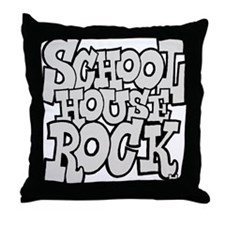 3-schoolhouserock_gray Throw Pillow