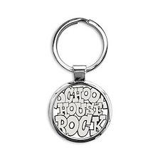 3-schoolhouserock_gray Round Keychain