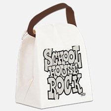 3-schoolhouserock_gray Canvas Lunch Bag