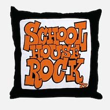 3-schoolhouserock_orange Throw Pillow
