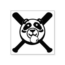 "Panda 2010 comic blk2 Square Sticker 3"" x 3"""