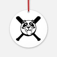 Panda 2010 comic blk2 Round Ornament