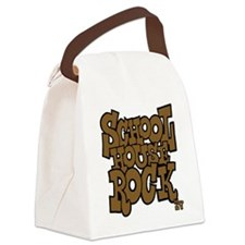 3-schoolhouserock_brown_dark Canvas Lunch Bag