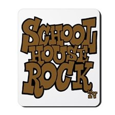 3-schoolhouserock_brown_dark Mousepad