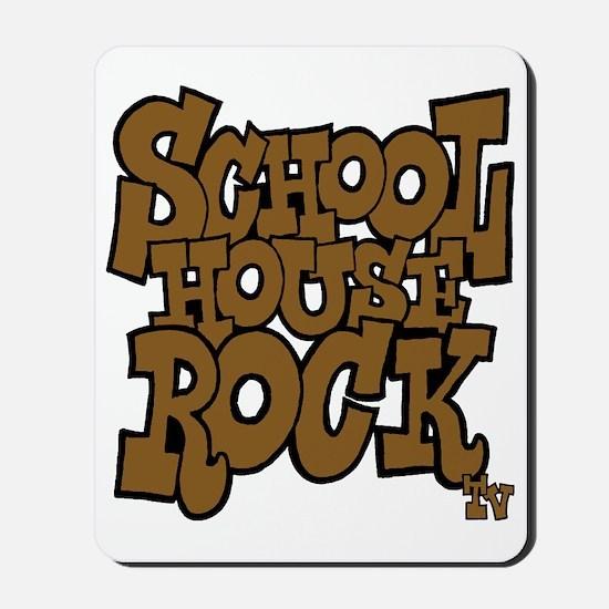 3-schoolhouserock_brown_dark Mousepad