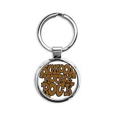 3-schoolhouserock_brown_dark Round Keychain