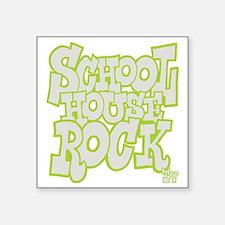 "2-schoolhouserock_gray_REVE Square Sticker 3"" x 3"""