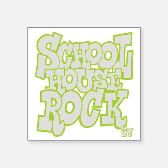 "2-schoolhouserock_gray_REVE Square Sticker 3"" x 3"""