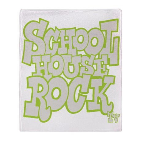 2-schoolhouserock_gray_REVERSE Throw Blanket