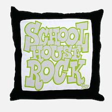 2-schoolhouserock_gray_REVERSE Throw Pillow