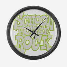 2-schoolhouserock_gray_REVERSE Large Wall Clock