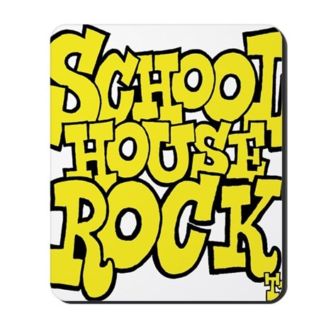 3-schoolhouserock_yellow Mousepad